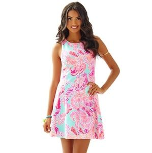 LILLY PULITZER fit and flare COVE DRESS Love Birds